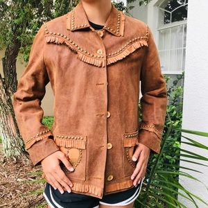 SCULLY leather fringe cowgirl western jacket M